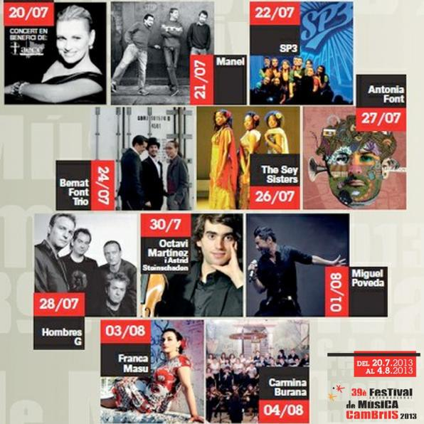 Concerts of Festival Internacional Music of Cambrils 2013.