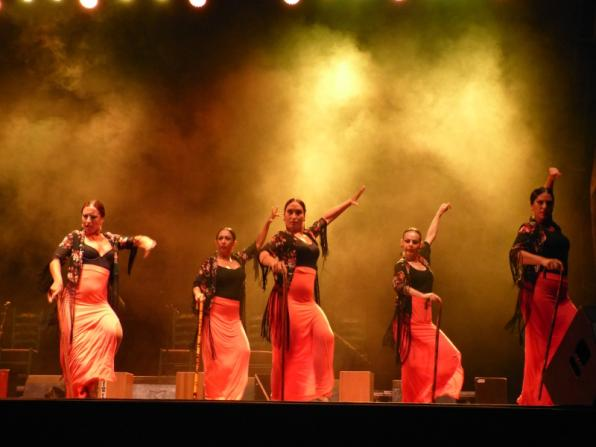 Performace of flamenco in Salou Nits Daurades 2016