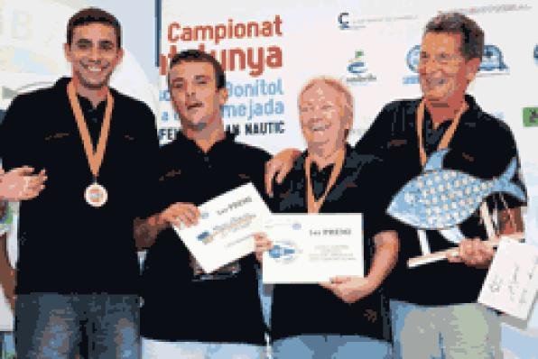 The boat Set Dofins II, winner of the Championship of Catalonia of Bonito Fishing