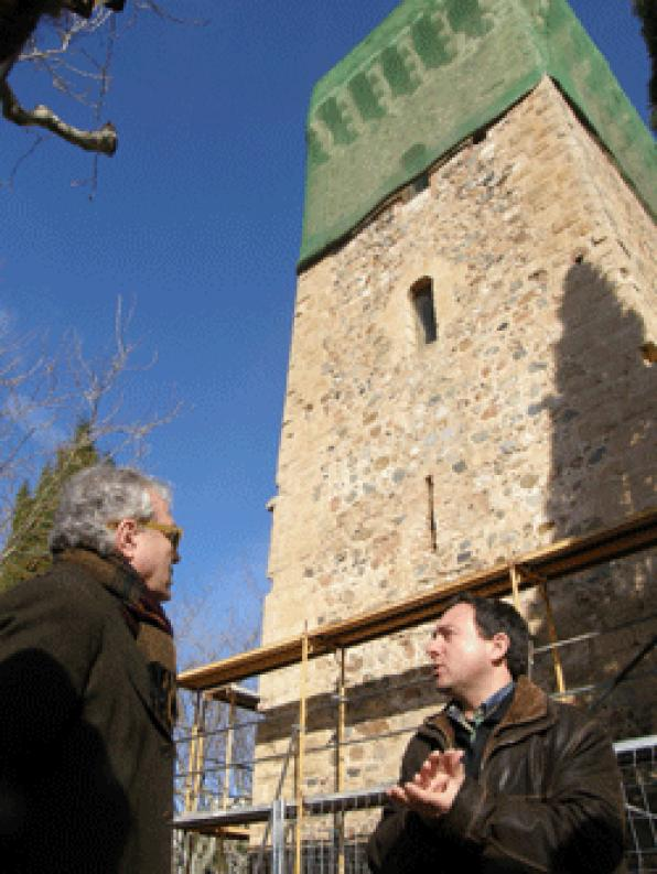 Starts the restoration work of the torre de lŽErmita de la Mare de Déu del Camí of Cambrils
