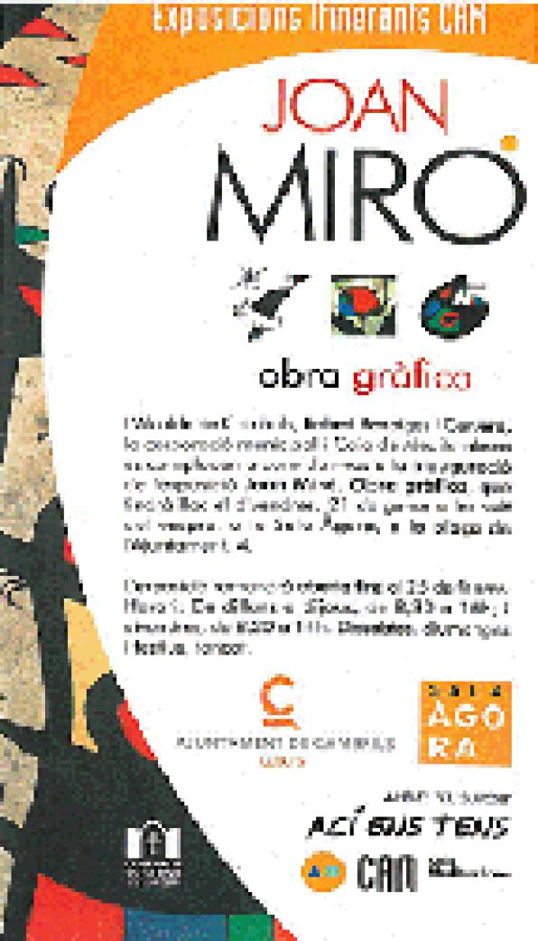 "Cambrils inaugurates the exhibition ""Joan Miró. Graphic Work"""